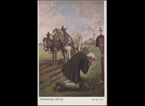 Ansichtskarte Völkerkrieg 1914/1915 - Für den Sohn, ungebraucht