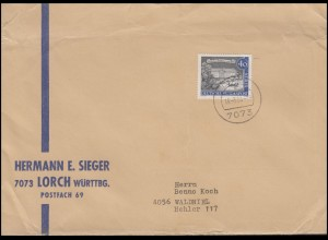 223 Alt-Berlin 40 Pf. Schloss Bellevue EF auf Brief LORCH 18.3.64 nach Waldniel