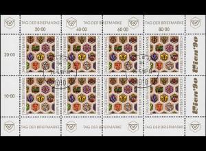Österreich 1990 Tag der Briefmarke 1990, Kleinbogen mit ET-O WIEN 1010 - 25.5.90