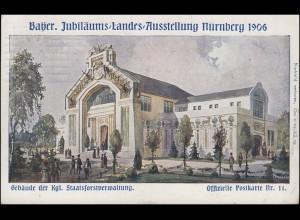 Bayer. Jubiläums-Landes-Ausstellung Nürnberg 1906 Nummer 11, Nürnberg 27.7.06