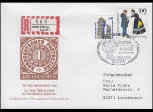 1692 Tag der Briefmarke & Postbote, R-Bf SSt Fallingbostel EUROPA & ECU 31.10.93