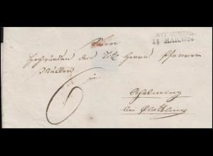 Bayern Vorphilatelie Brief Zweizeiler STRAUBING 14. März 1836 nach Plattling