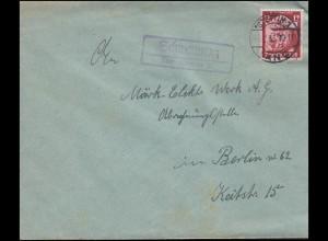 698 Deutsches Derby 1939 auf Brief mit passendem SSt HAMBURG Reiter 25.6.39