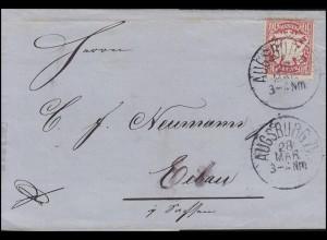 Bayern Wappen 10 Pfennig EF Brief AUGSBURG II. - 28.3.82 nach Eibau/Sa. 29.3.82