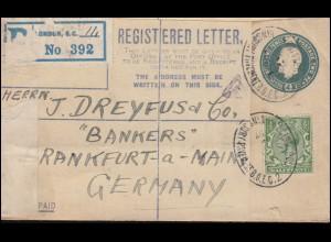 84I Germania 2mal 3 Pf. MeF bildseitig auf AK Nürnberg SEIFHENNERSDORF 22.9.13