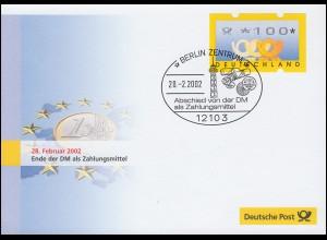 Euro-Einführung: SSt Berlin 28.02.02 Abschied von der DM als Zahlungsmittel