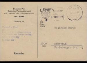 Postsache Postverkehrsamt Versand von Postwertzeichen BERLIN 17.5.1980