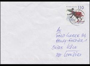 2072 Für uns Kinder 1999 aus Block 51 EF auf Brief EUSKIRCHEN 24.5.00 nach Köln