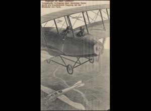 Marinefeldpost 1. Matrosen-Division, KIEL 16.12.1916 auf AK Luftkampf Taube