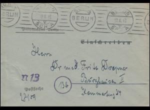 Postsache Postscheckamt Berlin Brief BERLIN SCHA 12.6.46 nach Burghausen