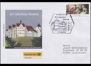 825 Jahrfeier Nossen & Porzellan, Auflage 1000! SSt Nossen Schloss 27.8.2010