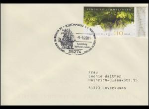 2208 Linde von Himmelsberg, EF FDC ESSt Dorflinde & Kirche 9.8.2001