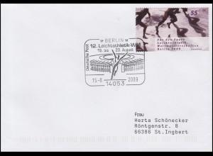 2728 Kurzstreckenlaufen, EF Brief SSt Berlin 12. Leichtathletik-WM 15.8.2009