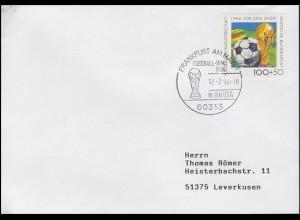 1718 Fußball & FIFA-Pokal, Bf SSt Frankfurt Fußball-WM 1994 in den USA 17.7.1994
