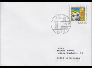 1718 Fußball, Bf SSt Frankfurt Fußball-WM 1994 in den USA & FIFA-Pokal 17.6.1994