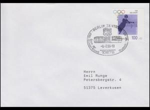 1863 Annie Hübler-Horn, EF Brief SSt Berlin ARD-Olympia-Express 13.7.1996
