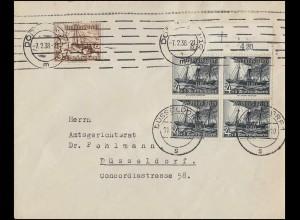 Sonderkarte MOPHILA 85 Zusammendruck 1255--1256 Postkutsche, SSt HAMBURG 12.9.85