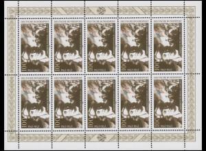 1766 General Friedrich W. von Steuben - Kleinbogen links nicht durchgezähnt **