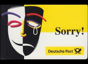PortoCard - Sorry! P-1998-30.700-3 mit Marken 1958 und 1967 **