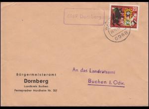 Württemberg P 37 Ziffer 5 Pf. DV 1.10.94 von NEUENSTEIN 8.5.95 nach STUTTGART
