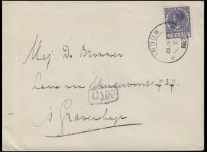 Niederlande 180 Wilhelmine 7½ C. Brief GROUW 23.8.1927 nach s'Gravenhage & C 765