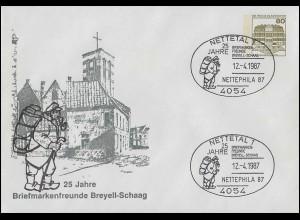Völkerbund (SDN) 17x Tell mit Armbrust EF auf Briefstück GENF 10 - 13.8.1927