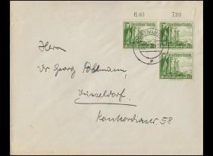 198 Gutenberg-Bibel 5x MeF Brief ALSFELD / OBERHESSEN 2.10.54 nach Weimar