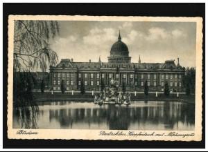 AK Potsdam Stadtschloss, Karpfenteich, Neptungrotte, Feldpost, Potsdam 5.5.1941