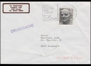 872 Friedensnobelpreis Ludwig Quidde EF Drucksache KAMEN 6.1.87 mit Codierung 12