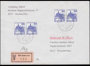 317 Komponist Beethoven im Blockoberteil aus Block 2 EF Brief LÖRRACH 5.3.60