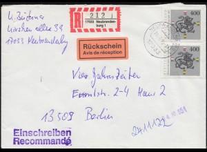 124 Posthorn 4 Pf EF Niendorfer Honighaus Bienenfleiß KIEL-FRIEDRICHSORT 15.7.52