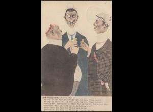 Humor-Ansichtskarte Schnapsgebet, Gießen 4.3.1914 nach Bonn