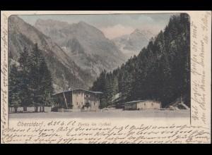 Ansichtskarte Partie im Oytal, OBERSTDORF 21.6.1902 nach PESSIN