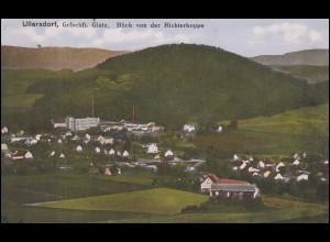 Ansichtskarte ULLERSDORF Grafschaft Glatz - Blick von der Richterkoppe 14.9.1917