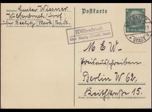 Belgien 1 Germania mit Aufdruck EF auf Drucksache BRÜSSEL 9.12.1915 nach Woluwe