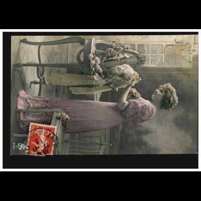 Frankreich Ansichtskarte Vornamen: Catherine im Ankleideraum, 27.11.1911