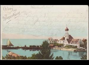 Ansichtskarte Gruss aus Wasserburg, WASSERBURG / BODENSEE 27.7.1898