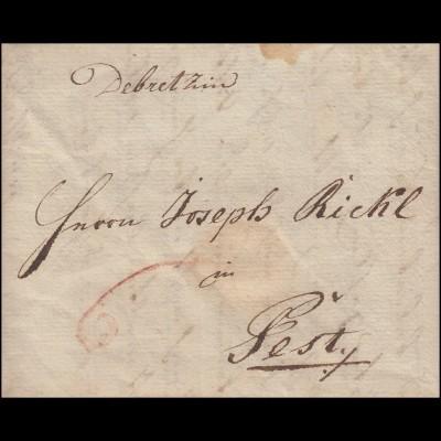 Ungarn Vorphilatelie Brief aus DEBREZIN nach PESTY vom 22. November 1801