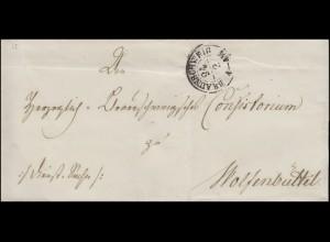 Vorphilatelie Braunschweig Briefhülle K2 BRAUNSCHWEIG 24.4. nach Wolfenbüttel