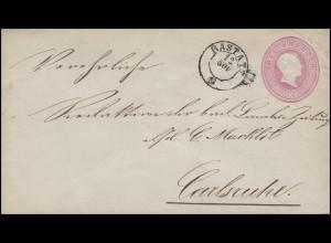 Baden Umschlag U 12 Großherzog Friedrich 3 Kr. RASTATT 12.11. nach Karlsruhe