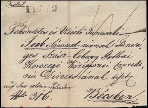 Ungarn Vorphilatelie privater R-Brief aus PESTH vom 8.7.1837 nach WIEN 11.7.