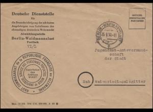 Dienststelle für Benachrichtigung Gefallener der Wehrmacht Brief BERLIN 25.9.50