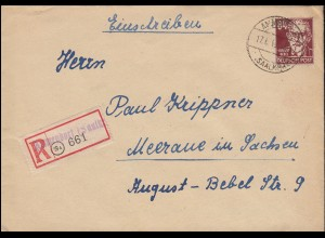 Lindner-Kontaktgabe mit Vignette zur WÜPOSTA Stuttgart 1951