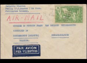 Philippinen - Amerikanische Besatzung: 375 Gemälde Brief BONTOC 1.10.1937
