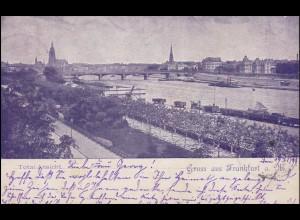 Ansichtskarte Frankfurt/Main Total Ansicht 19.7.1899 nach HÖCHST/MAIN 19.7.99