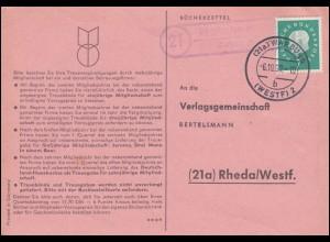 Liechtenstein 398 EUROPA / CEPT 1960 auf Blanko-Schmuck-FDC ET-O VADUZ 19.9.60