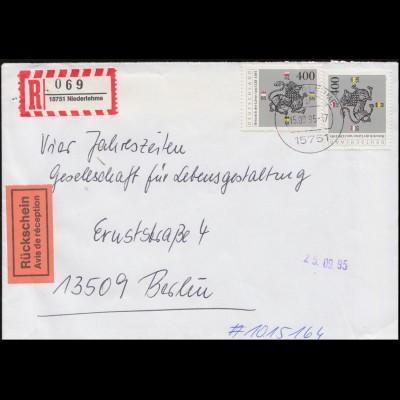 123 Posthorn 2 Pf. Paar MeF Drucksache Honig & Bienen HAMBURG-LOKSTEDT 29.8.53