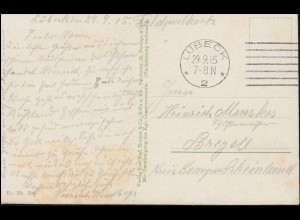 DEUTSCHE MARINE-SCHIFFSPOST No 36 b - 4.2.1916 SMS Seydlitz auf Propaganda-AK