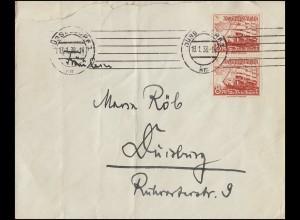 691 Geburtstag 12 Pf. EF auf Brief NASTÄTTEN 20.4.39 nach Mainz