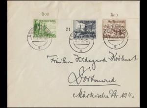 811 Tag der Briefmarke 1942 - auf FDC-Postkarte ESSt HANNOVER 11.1.42